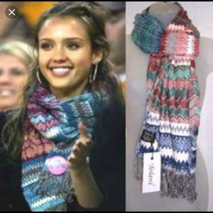 Tolani multicolor zig zag scarf